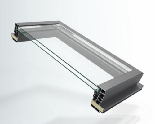 Einsatzfenster: Dachfenster 100/66 mm, für Fassade und Wintergarten