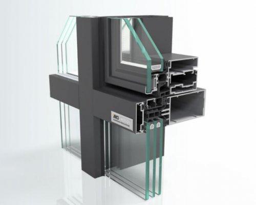 Einsatzfenster: AT 550 SK/PA 114/100 mm, Ganzglasoptik